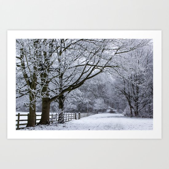 A Winters Lane Art Print
