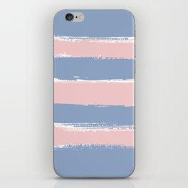 Rose Quartz Stripes on Serenity iPhone Skin