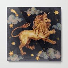 Zodiac sign Leo Metal Print