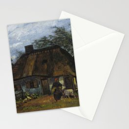 Vincent Van Gogh Farmhouse In Nuenen Stationery Cards