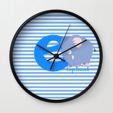 e for elephant Wall Clock
