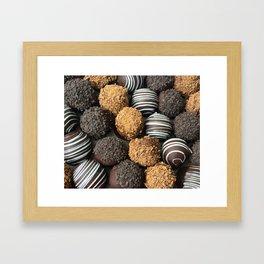 Truffle Chocoholic Fudge Mania Framed Art Print