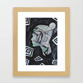 Laura - Head in Space Framed Art Print