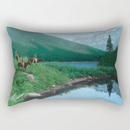 The Hunting Ground - Blackfoot American Indian Rectangular Pillow