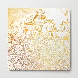 Golden brush Metal Print