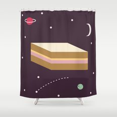 Ham & Cheese in Space Shower Curtain