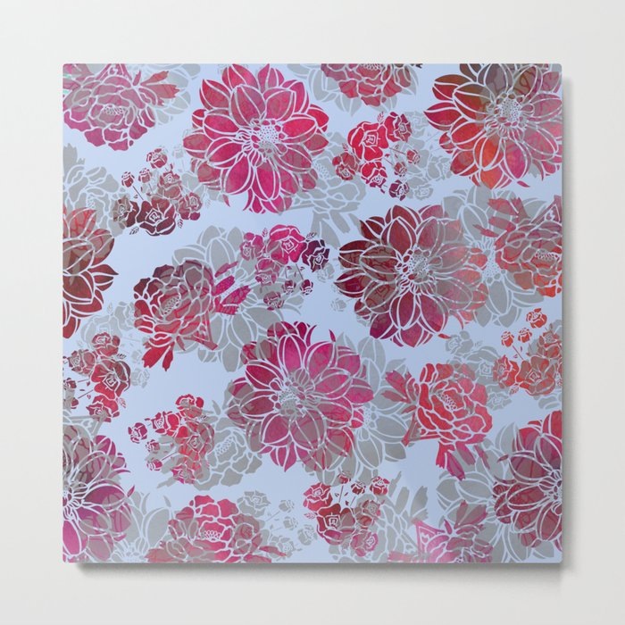 Flower Pattern Design Metal Print