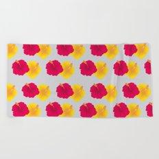 Hibiscus pattern_YRA Beach Towel
