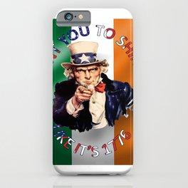 Irish American Uncle Sam Celebration Shindig iPhone Case
