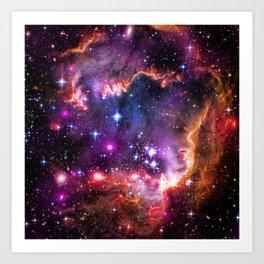 Small Magellanic Cloud's Starry Wingtip Art Print