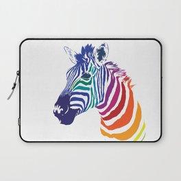 Rainbow Zebra Colorful Animals Whimsical Art Laptop Sleeve