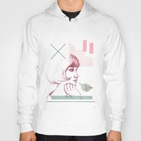 60s Hoodies featuring Classroom Girl by Laura O'Connor