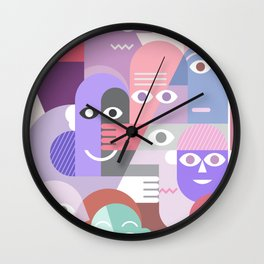 Large Group of People Wall Clock