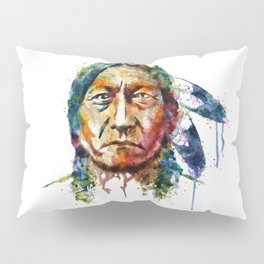 Sitting Bull watercolor painting Pillow Sham