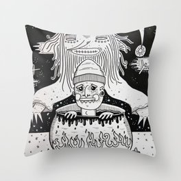 Jumped out the sorcerers cauldron. Throw Pillow