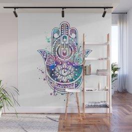 Hamsa Hand Watercolor Poster Wedding Gift Wall Mural