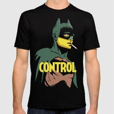 Control Black MEDIUM Mens Fitted Tee