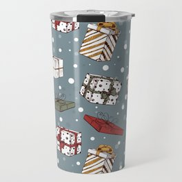 Chritmas gifts pattern Travel Mug