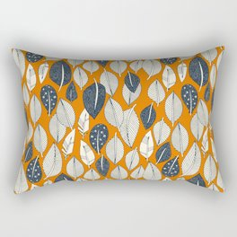 leaves and feathers orange Rectangular Pillow