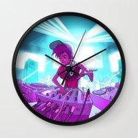 dj Wall Clocks featuring DJ by Pere Devesa