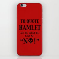 hamlet iPhone & iPod Skins featuring To quote Hamlet...  by rawrded