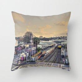 Paignton Station Throw Pillow