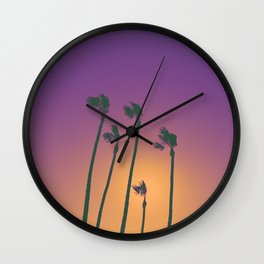 Palm Sherbet Wall Clock