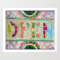 Open for Energetic Shifting Art Print