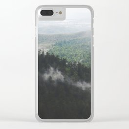Clouds in the forest Clear iPhone Case