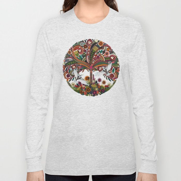 tree of life white Long Sleeve T-shirt