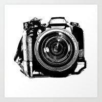 camera Art Prints featuring Camera by Luisa Mähringer