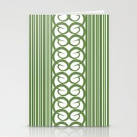 striped Stationery Cards featuring Striped by Panda