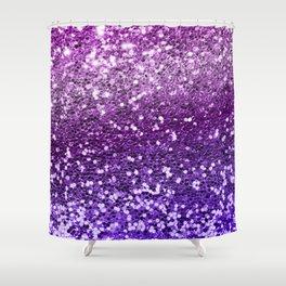 Mermaid Glitters Sparkling Purple Cute Girly Texture Shower Curtain