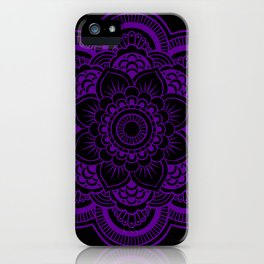 Deep Purple Mandala iPhone Case