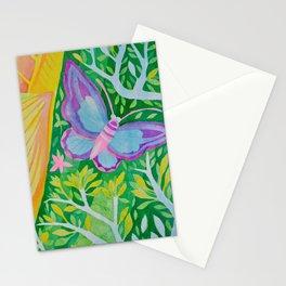 Purple Butterfly Stationery Cards