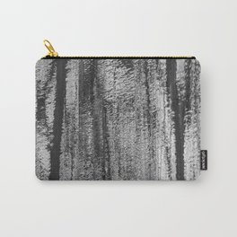 Shimmering Silver with Black Carry-All Pouch