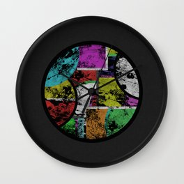 Pastel Porthole - Abstract, geometric, textured, pastel coloured artwork Wall Clock