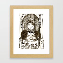 The Queen of the Cats Framed Art Print