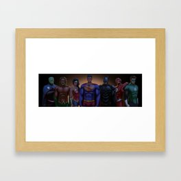 justice league Framed Art Print