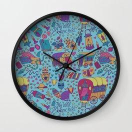 Caravan Pattern Wall Clock