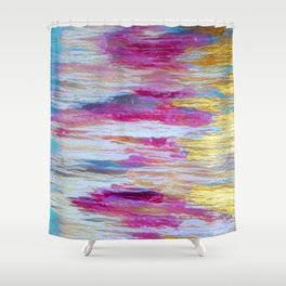 Somewhere In Between Gold and Pink Shower Curtain
