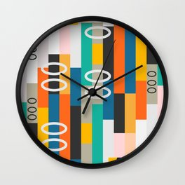 Modern abstract construction Wall Clock