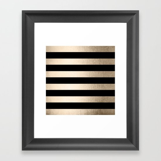 Simply Striped White Gold Sands on Midnight Black by followmeinstead