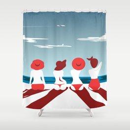 Summer Girls Shower Curtain