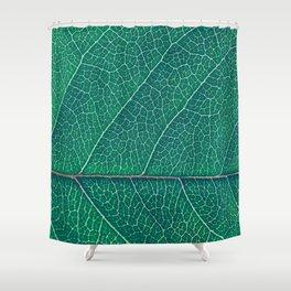 Green Veins Shower Curtain