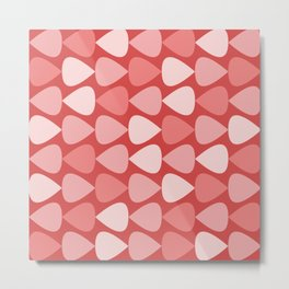 Plectrum Pattern in Pink and Red Metal Print