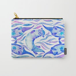 Five Otters – Indigo Ombré Carry-All Pouch