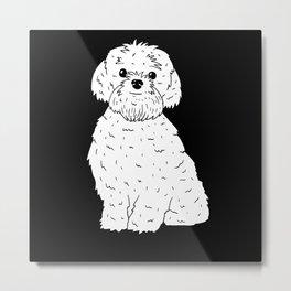 Bolonka Zwetna Dog Gift Metal Print