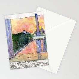 Through Lincoln's Eyes, Washington DC Stationery Cards
