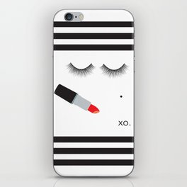 Lipstick & Lashes iPhone Skin